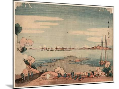 Dokanyama Shinagawa Oki Ukie-Shotei Hokuju-Mounted Giclee Print