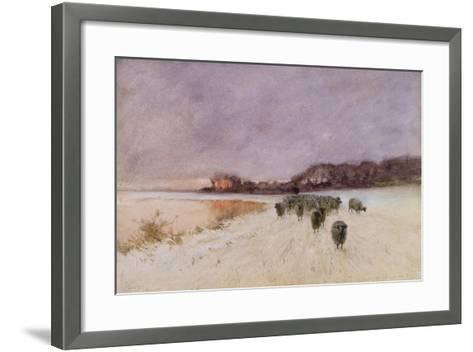 Winter at Loch Ard-Sir Alfred East-Framed Art Print