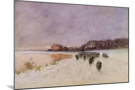 Winter at Loch Ard-Sir Alfred East-Mounted Giclee Print