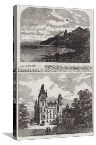 Dunrobin Castle, the Seat of the Duke of Sutherland, in Scotland-Samuel Read-Stretched Canvas Print
