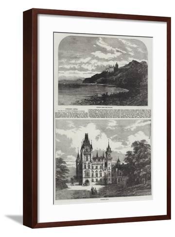 Dunrobin Castle, the Seat of the Duke of Sutherland, in Scotland-Samuel Read-Framed Art Print