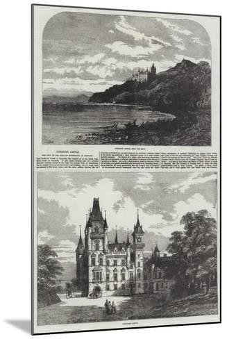 Dunrobin Castle, the Seat of the Duke of Sutherland, in Scotland-Samuel Read-Mounted Giclee Print