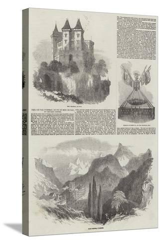 Pau, Le Val D'Osseau, Le Pic Du Midi De Pau, Et Les Eaux Bonnes-Samuel Read-Stretched Canvas Print