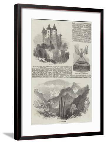 Pau, Le Val D'Osseau, Le Pic Du Midi De Pau, Et Les Eaux Bonnes-Samuel Read-Framed Art Print