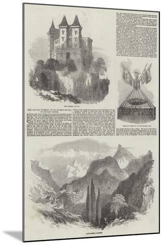 Pau, Le Val D'Osseau, Le Pic Du Midi De Pau, Et Les Eaux Bonnes-Samuel Read-Mounted Giclee Print