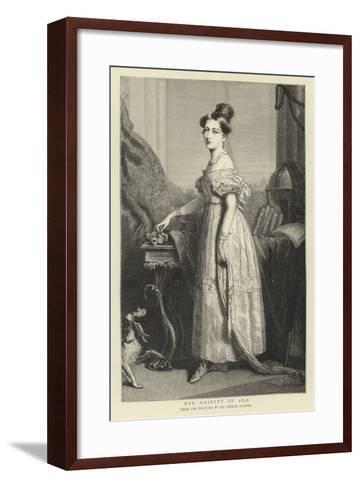 Her Majesty in 1836-Sir George Hayter-Framed Art Print