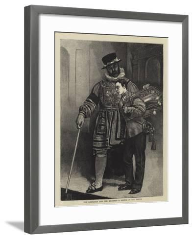 The Beefeater and the Drummer, a Sketch in the Tower-Sir James Dromgole Linton-Framed Art Print