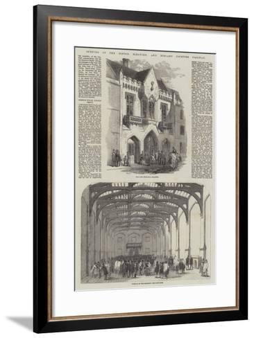 Opening of the Boston, Sleaford, and Midland Counties Railway-Samuel Read-Framed Art Print