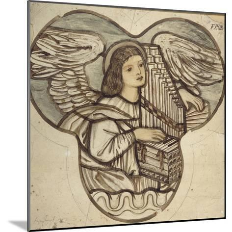 Design for Stained Glass in Lyndhurst Church: an Angel Organist, 1886-Edward Burne-Jones-Mounted Giclee Print