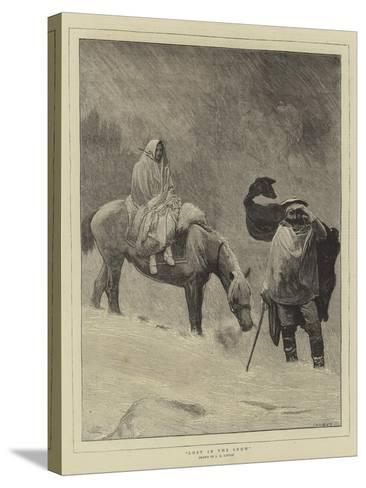 Lost in the Snow-Sir James Dromgole Linton-Stretched Canvas Print