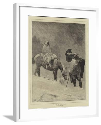 Lost in the Snow-Sir James Dromgole Linton-Framed Art Print