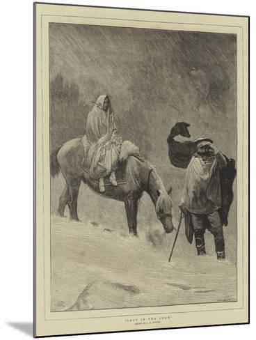 Lost in the Snow-Sir James Dromgole Linton-Mounted Giclee Print