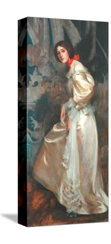 The Stairs, C.1899-James Jebusa Shannon-Stretched Canvas Print