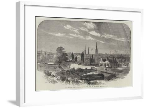 The Queen's Visit to Birmingham, the City of Coventry-Samuel Read-Framed Art Print