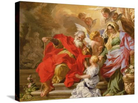 The Education of the Virgin, C.1715-Sebastiano Conca-Stretched Canvas Print