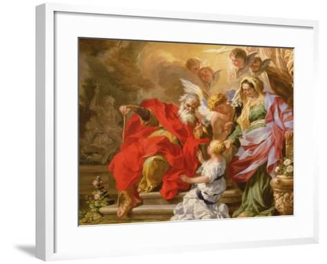 The Education of the Virgin, C.1715-Sebastiano Conca-Framed Art Print