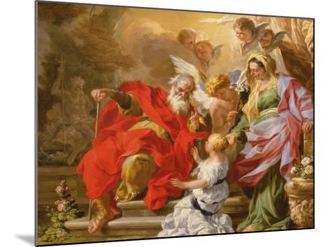 The Education of the Virgin, C.1715-Sebastiano Conca-Mounted Giclee Print