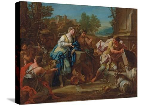 Jacob and Rachel at the Well-Sebastiano Conca-Stretched Canvas Print