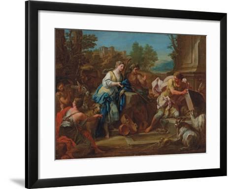 Jacob and Rachel at the Well-Sebastiano Conca-Framed Art Print