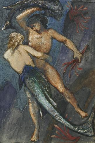 Album of Forty-Eight Drawings-Edward Burne-Jones-Stretched Canvas Print