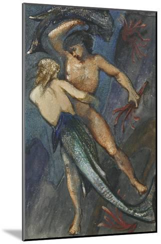 Album of Forty-Eight Drawings-Edward Burne-Jones-Mounted Giclee Print