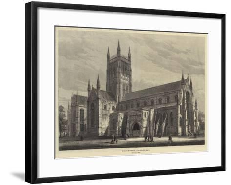 Worcester Cathedral-Samuel Read-Framed Art Print
