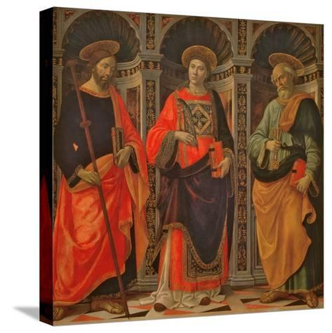 St. James, St. Stephen and St. Peter-Sebastiano Minardi-Stretched Canvas Print