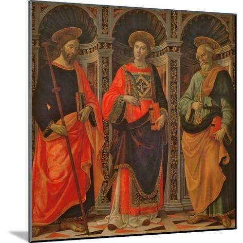 St. James, St. Stephen and St. Peter-Sebastiano Minardi-Mounted Giclee Print