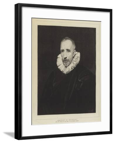 Portrait of Gevartius-Sir Anthony Van Dyck-Framed Art Print