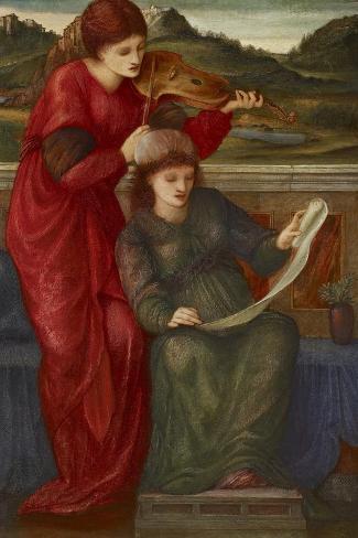 Music, 1877-Edward Burne-Jones-Stretched Canvas Print