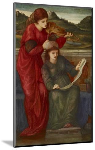 Music, 1877-Edward Burne-Jones-Mounted Giclee Print