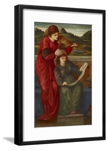 Music, 1877-Edward Burne-Jones-Framed Art Print