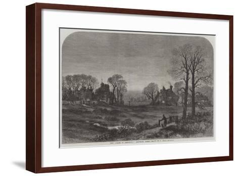 The Curate of Glevering, Glevering Green-Samuel Read-Framed Art Print