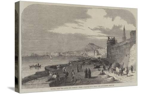 Naples, from the Castel Del Carmine-Samuel Read-Stretched Canvas Print