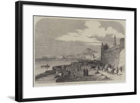 Naples, from the Castel Del Carmine-Samuel Read-Framed Art Print