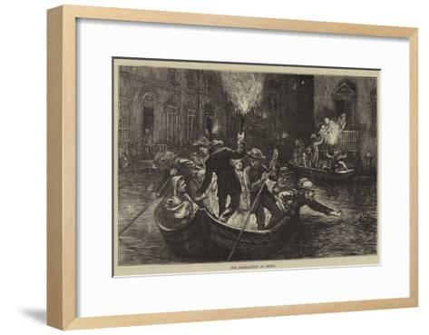 The Inundation at Rome-Hubert von Herkomer-Framed Art Print