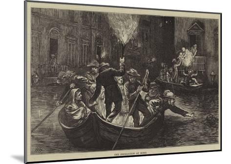 The Inundation at Rome-Hubert von Herkomer-Mounted Giclee Print