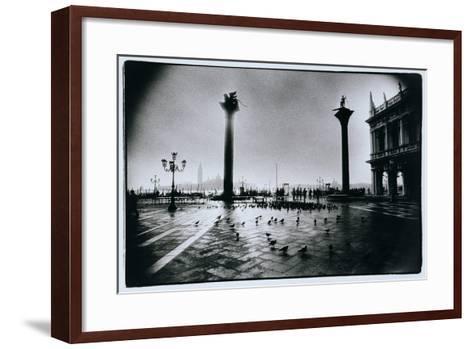 The Columns of St. Mark and St. Theodore, Piazzeta San Marco, Venice-Simon Marsden-Framed Art Print