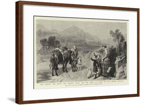 Her Majesty the Queen, the Princess Royal, and the Prince of Wales at Loch Laggan, Scotland-Edwin Landseer-Framed Art Print
