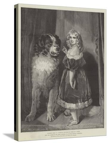 Princess Mary of Cambridge (Duchess of Teck) as a Child, in the Victorian Exhibition-Edwin Landseer-Stretched Canvas Print