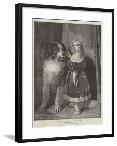 Princess Mary of Cambridge (Duchess of Teck) as a Child, in the Victorian Exhibition-Edwin Landseer-Framed Art Print
