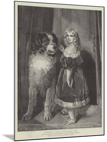 Princess Mary of Cambridge (Duchess of Teck) as a Child, in the Victorian Exhibition-Edwin Landseer-Mounted Giclee Print