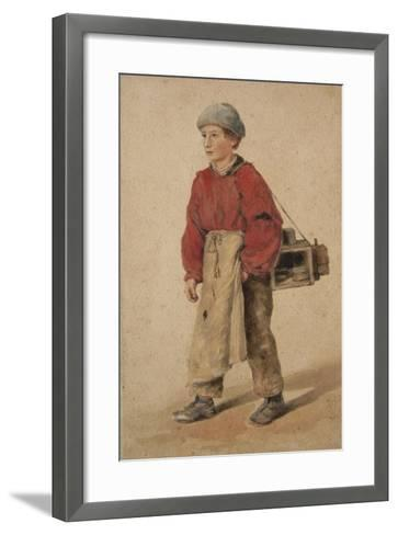 City of London Shoe Black-Sir Henry Cole-Framed Art Print