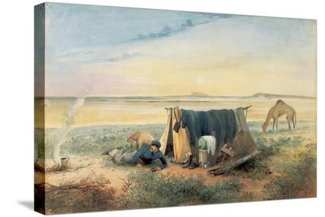 Invalid's Tent, Salt Lake 75 Miles North-West of Mount Arden, 1846-Samuel Thomas Gill-Stretched Canvas Print