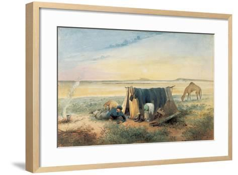 Invalid's Tent, Salt Lake 75 Miles North-West of Mount Arden, 1846-Samuel Thomas Gill-Framed Art Print