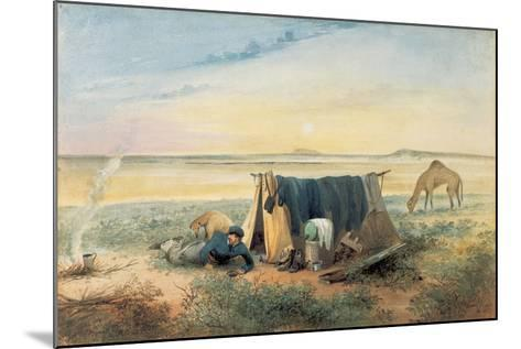 Invalid's Tent, Salt Lake 75 Miles North-West of Mount Arden, 1846-Samuel Thomas Gill-Mounted Giclee Print