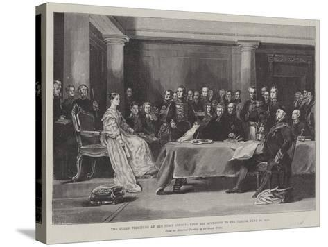 The Queen Presiding at Her First Council Upon Her Accession to the Throne, 20 June 1887-Sir David Wilkie-Stretched Canvas Print