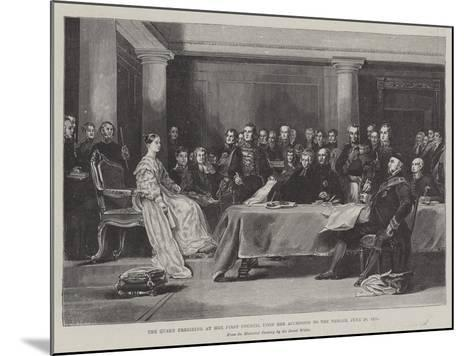 The Queen Presiding at Her First Council Upon Her Accession to the Throne, 20 June 1887-Sir David Wilkie-Mounted Giclee Print