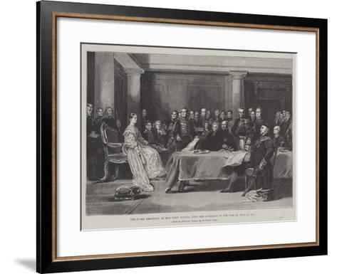 The Queen Presiding at Her First Council Upon Her Accession to the Throne, 20 June 1887-Sir David Wilkie-Framed Art Print
