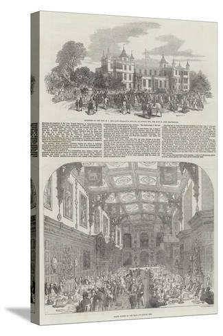 Festivities at Audley End-Samuel Read-Stretched Canvas Print